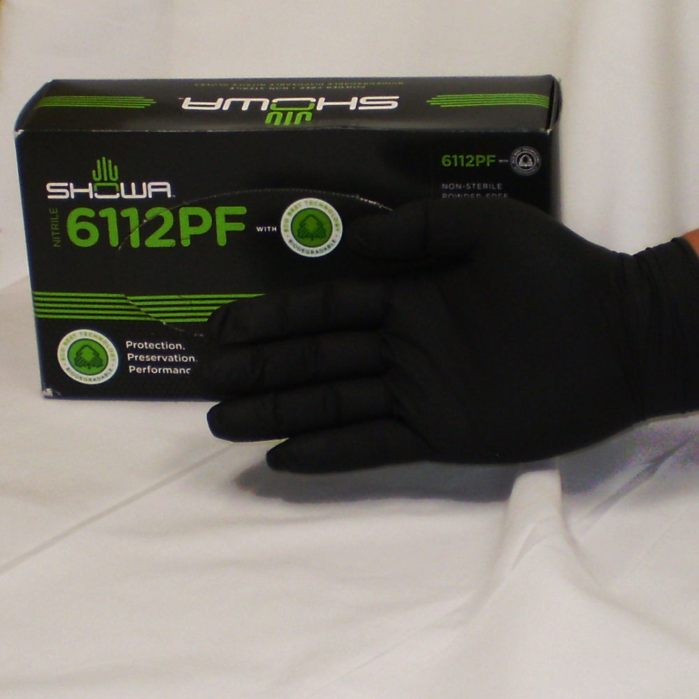Landfill-Biodegradable Disposable Gloves Green 100/box