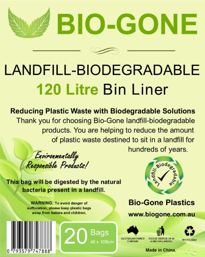 120L Wheelie Bin Biodegradable Waste Bags