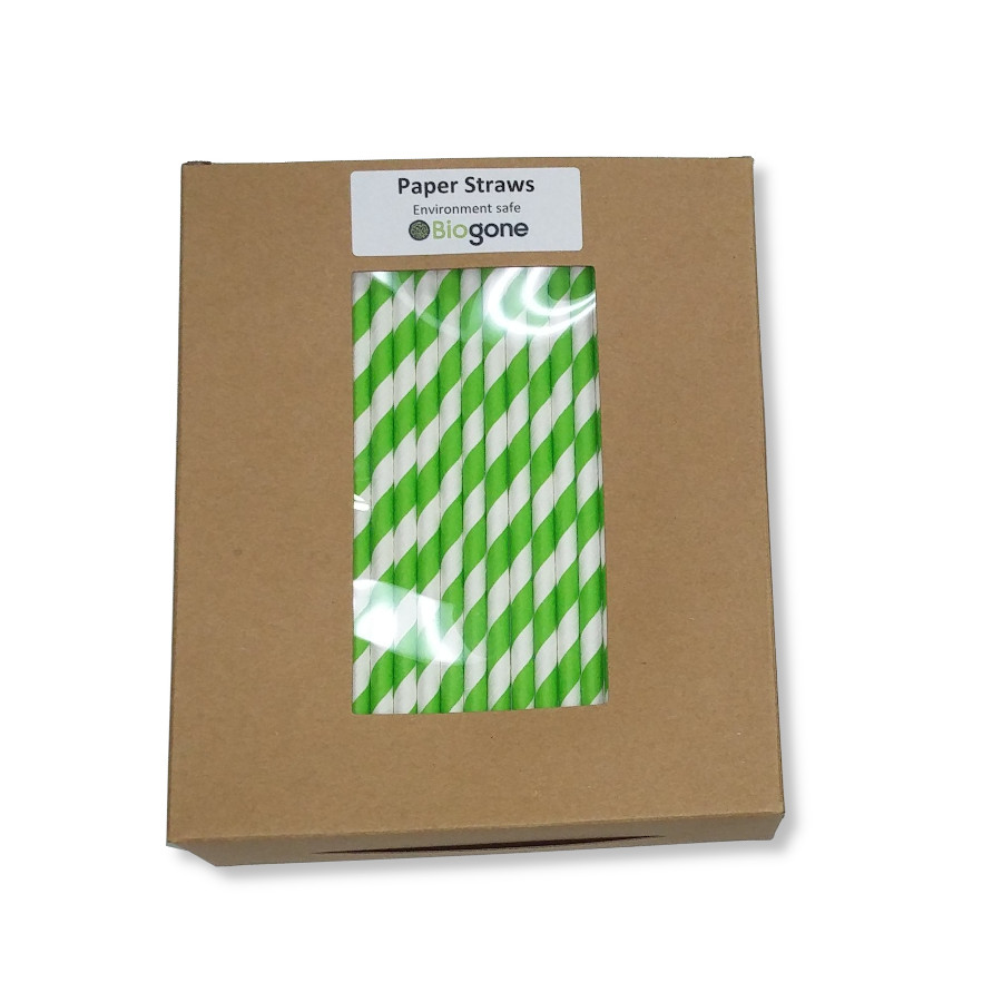 Green Straws in Box