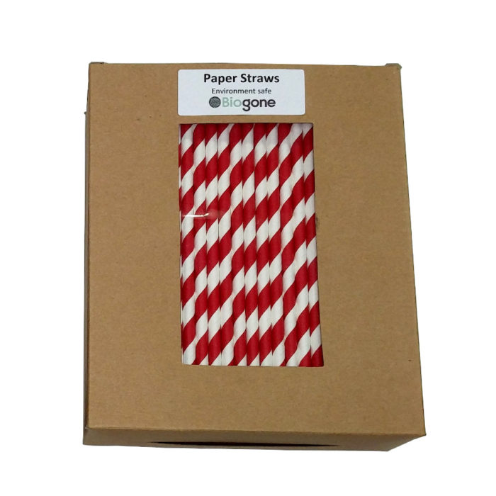 Red Straws in Box