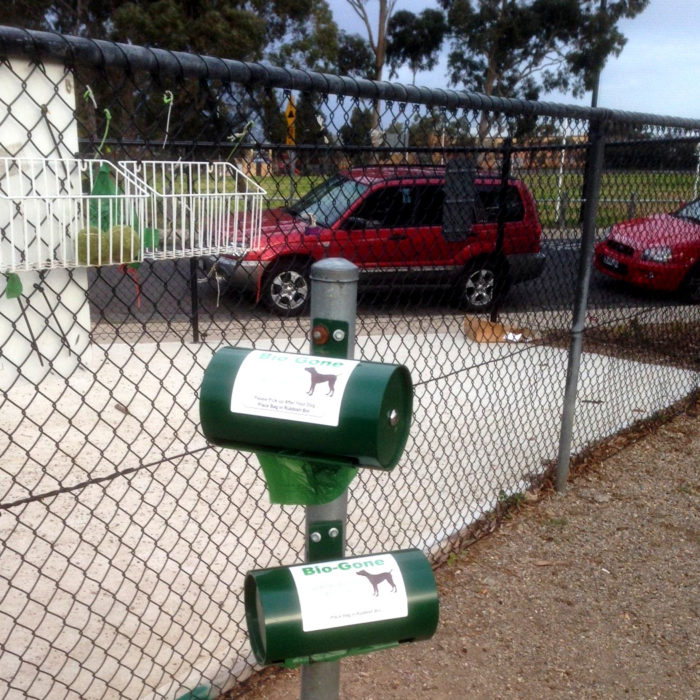 Post Mountable Dog Bag Dispenser