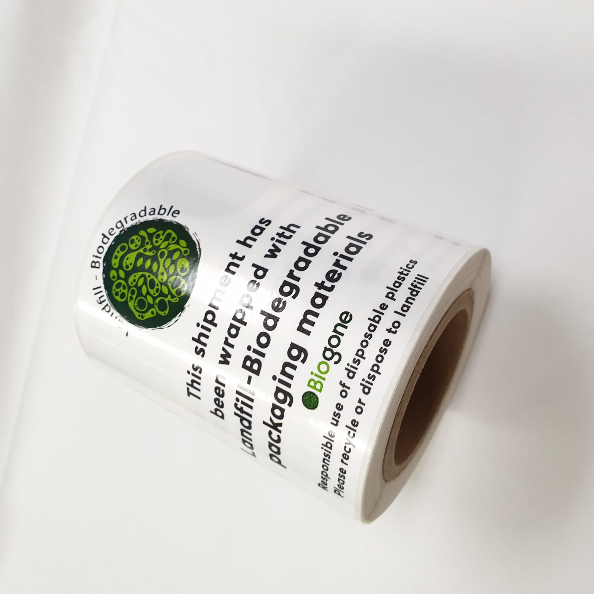 Roll of 200 Landfill Biodegradable Packaging Stickers